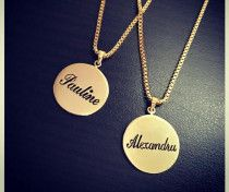 18k gold plated name pandent