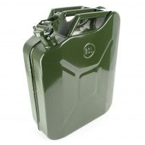 20L Fuel Jerry Can Green Metal