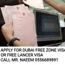 APPLY FOR DUBAI FREE LANCER VISA OR FREE ZONE VISA FOR ALL NATIONALITY