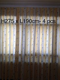 Fabric curtains in good condition