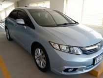 Honda Civic 2012 blue  Aed 33500 with navigation, sunroof etc.