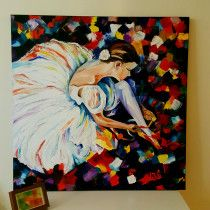 Lonely n colors) large oil on canvas heba art