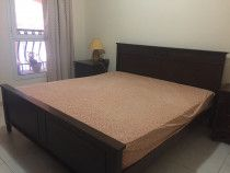 Pan emirates wood King Bed with Mattress (180x200) for Dhs 600