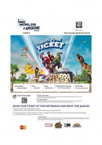 IMG WORLD TICKET FOR SALE