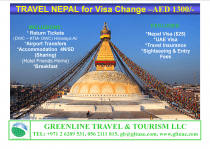 Visa Change to Nepal – AED 1300/- Only