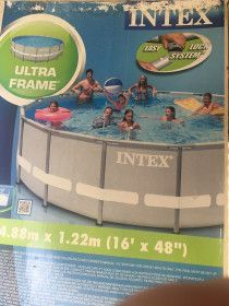 Above the ground intex round pool