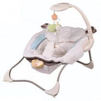 Baby Rocker with Bouncer & Rocking Chair - White Little Lamb Infant Seat