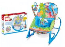 Baby Infant to Toddler Rocker with Bouncer and Rocking Chair - Blue