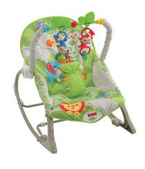 Baby Infant to Toddler Rocker with Bouncer & Rocking Chair - Green