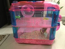 Hamster cage with two level