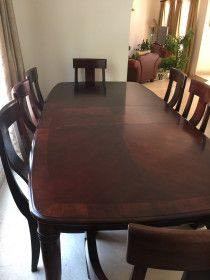 All must go. Good deal. Dinning table, sofa, table, dressing table