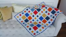Dancing Square Modern Baby quilt