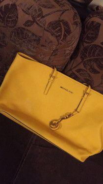 Yellow Michael kors bag