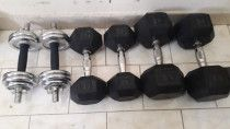 dumbell and Olympic barbell  weight plate