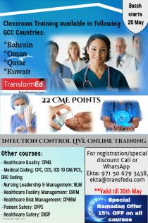 Online and classroom healthcare training by TransformEd anywhere in the world!!