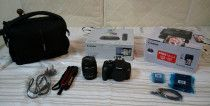Canon EOS 1300D DSLR camera with printer and Connect Station