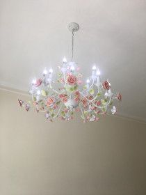 Rosey Chandelier for Sale with 15 LED Lamps