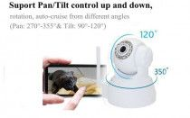 Wi fi Security Camera Plug&Play Pan Tilt Night Vision with Mic and Speaker