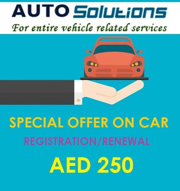 Car Registration Service in Dubai - May Promotion Offer