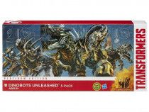 TRANSFORMERS-DINOBOTS UNLEASHED 5 PACK EXCLUSIVE PLATINUM EDITION Retired