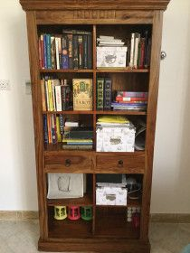 Bookcase from massive wood