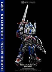 Hero Cross Hybrid Metal Transformers 5 Optimus Prime Knight Ltd Edition Figure