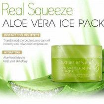 REAL SQUEEZE ALOE VERA ICE PACK NATURE REPUBLIC - KOREAN PRODUCT