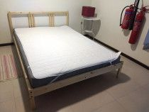 NEW Queen Bed frame + mattress + protector