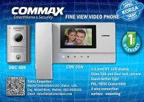 """COMMAX Video Intercom Fine view Series- 3.5""""Monitor and camera [DRC40K & CDV35A]"""