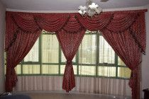 Sofa set, Two layer curtains & TV stand