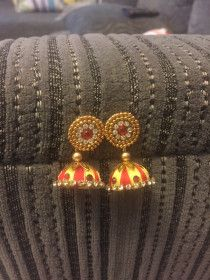 Beautiful handmade ethnic jhumkas