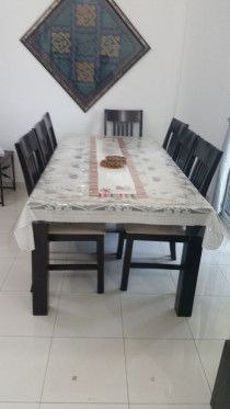 Dining table 8 seater for 1000 AED (NON NEGOTIABLE)
