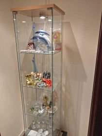 IKEA Glass Cabinet in Very Good Condition for Sale.