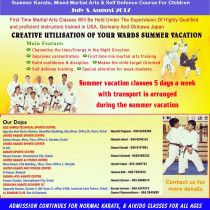 Karate, mixed martial arts & self defense summer camp across UAE