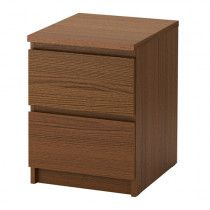 2 MALM chest of two drawers nightstand for AED 100 each