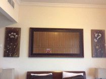 Wall mirror with ikea painting frame