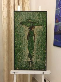 "LUXURY ART PRESENT MOSAIC ART ""THE RAIN"" By Saimir Strati"