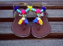 Versatile handpicked sandals by SEQUINZ