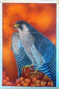 Blue Falcon Bird- Original Hand Painting – Acrylic on Canvas