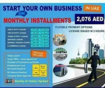Start your Business in UAE on Easy Installment AED2076/month
