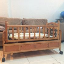 wooden swing baby cradle with mattress for Sale