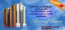 pay 91000 AED and get the key and the rest on 60 months