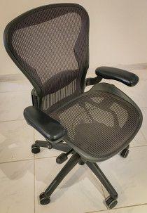 Aeron Chair - purple, top shape, B size fits most
