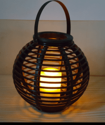 Night round light candle lamp In a circular plastic shape