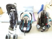 Two baby car seats and a stroller for AED250. Jumeirah Lakes Towers