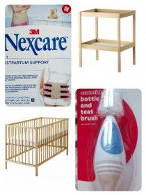 Bassinet,  crib, changing table, bathtub, clothes for baby boy 0-3 month