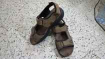 TTaccardi Brown Leather Thong Sandals Mens size 42