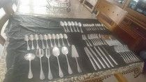 Christofle Sterling Silver Flatware. 77 pieces