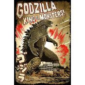Godzilla Movie poster, size is 28 x 36 inches a must have for all collectors