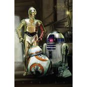 Star Wars Droids movie poster size 26 x 32 inches. A fantastic poster to have